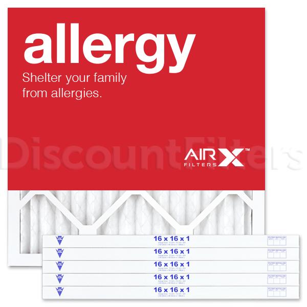 16x16x1 AIRx ALLERGY Air Filter - MERV 11