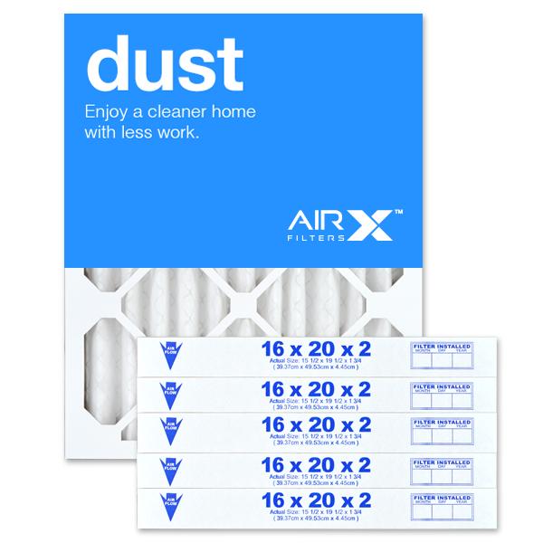 16x20x2 AIRx DUST Air Filter - MERV 8