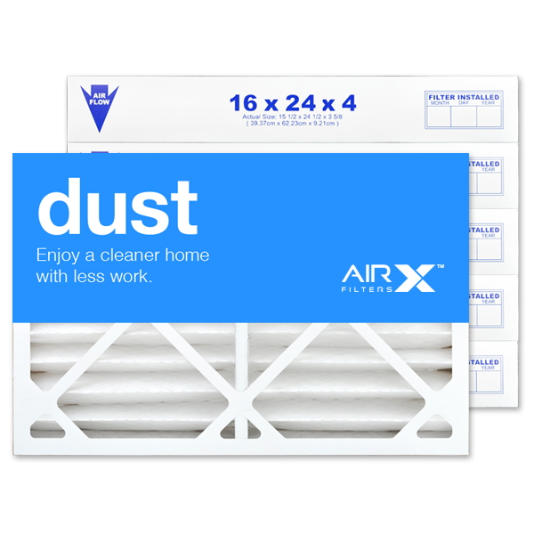16x24x4 AIRx DUST Air Filter - MERV 8