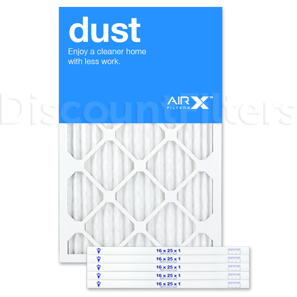 AiRx Dust 16x25x1 MERV 8 Pleated Filter