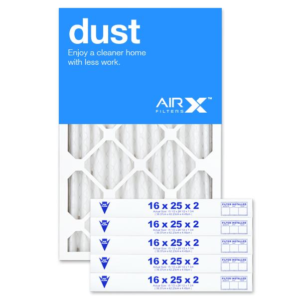 16x25x2 AIRx DUST Air Filter - MERV 8