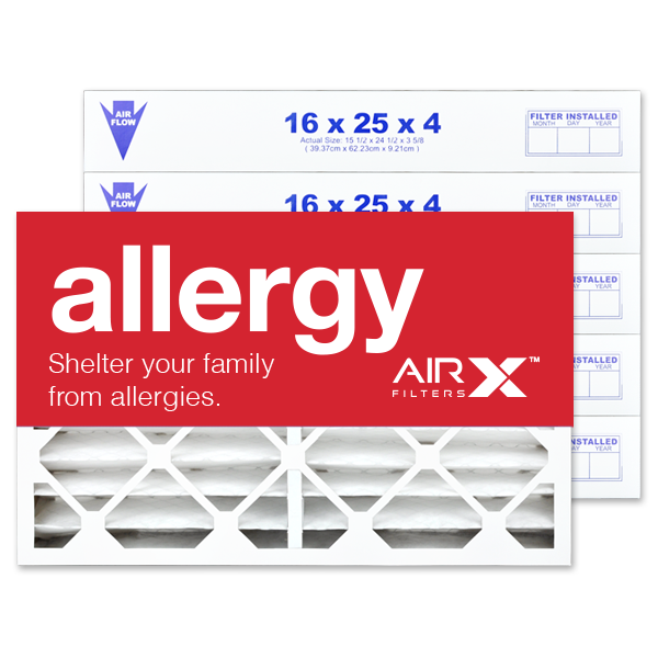 16x25x4 AIRx ALLERGY Air Filter - MERV 11 2-Pack