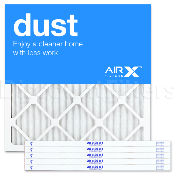 20x20x1 filter removes particles like dust, dirt, mold and pollen