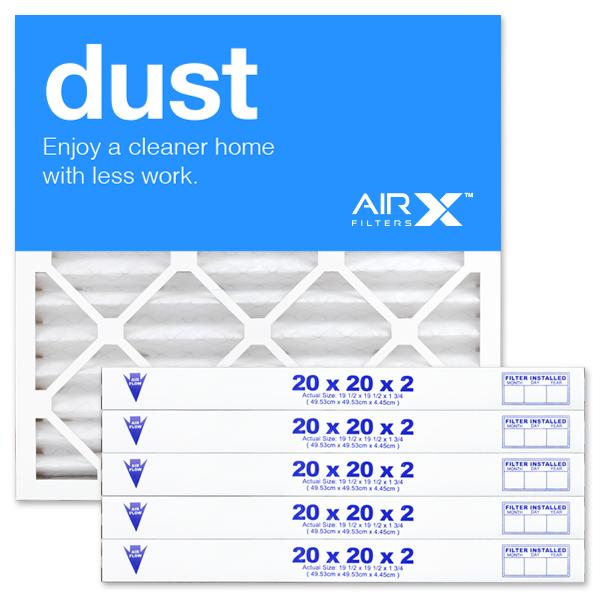 20x20x2 AIRx DUST Air Filter - MERV 8