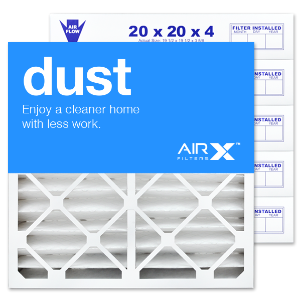 20x20x4 AIRx DUST White-Rodgers FR1600M-108 Replacement Air Filter - MERV 8