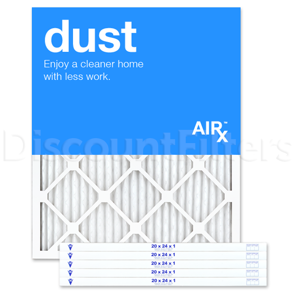"""20"""" X 24"""" X 1"""" MERV 8 Pleated Filter- Dust Reduction"""