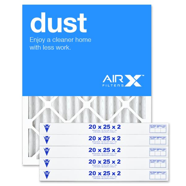 20x25x2 AIRx DUST Air Filter - MERV 8