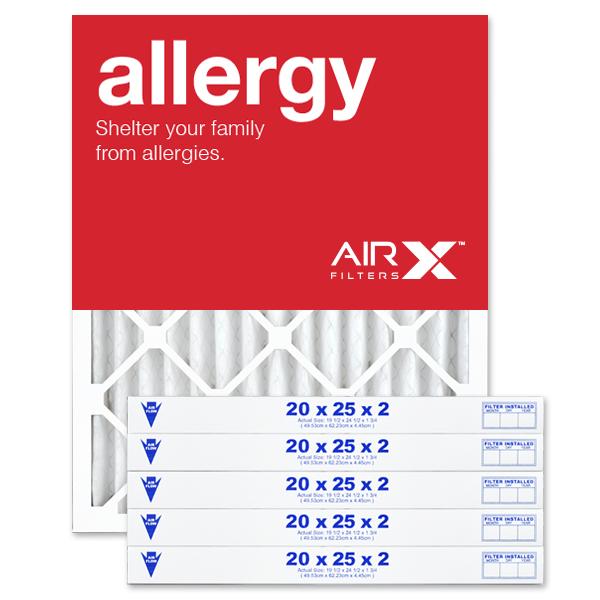 20x25x2 AIRx ALLERGY Air Filter - MERV 11