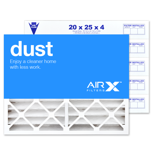20x25x4 AIRx DUST White Rodgers FR2000M-108 Replacement Filter - MERV 8