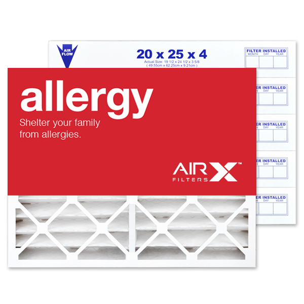 20x25x4 AIRx ALLERGY Air Filter - MERV11