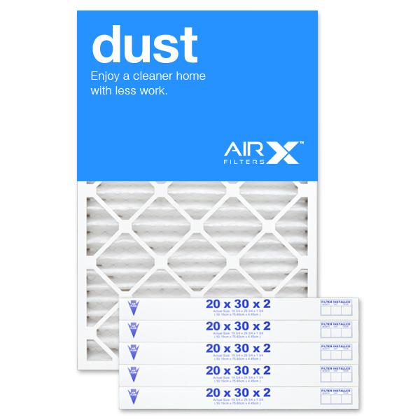 20x30x2 AIRx DUST Air Filter - MERV 8