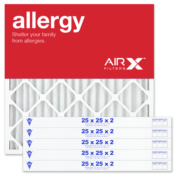 25x25x2 AIRx ALLERGY Air Filter - MERV 11