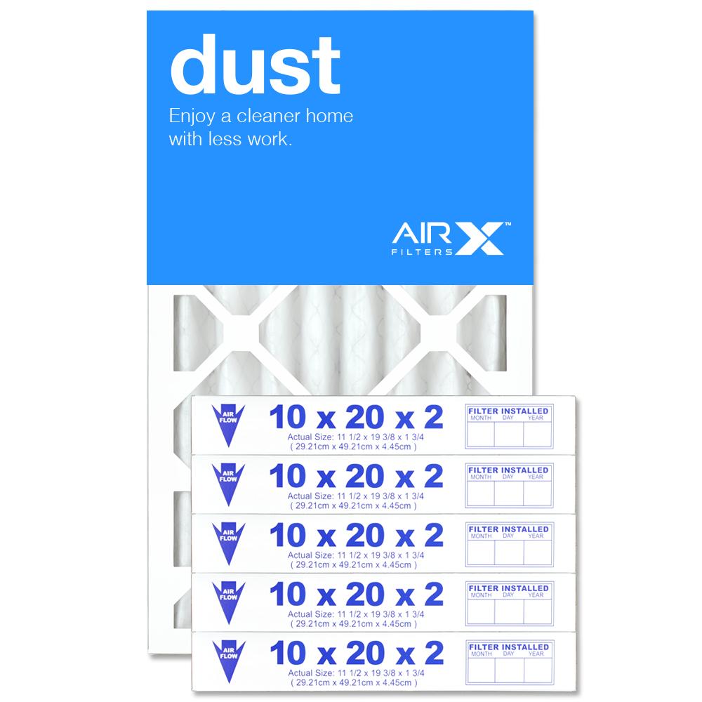 10x20x2 AIRx DUST Air Filter - MERV 8