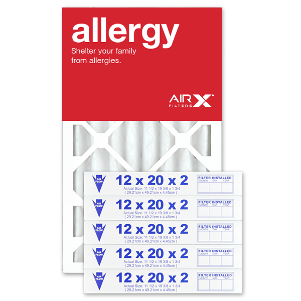 12x20x2 AIRx ALLERGY Air Filter - MERV 11