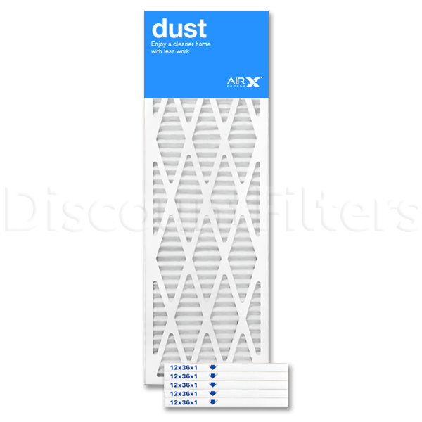 12x36x1 AIRx DUST Air Filter - MERV 8