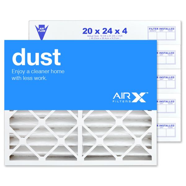 20x24x4 AIRx DUST Air Filter - MERV 8