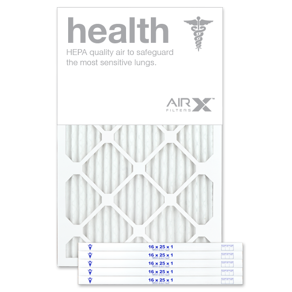 AiRx Health 16x25x1 MERV 13 Pleated Filter