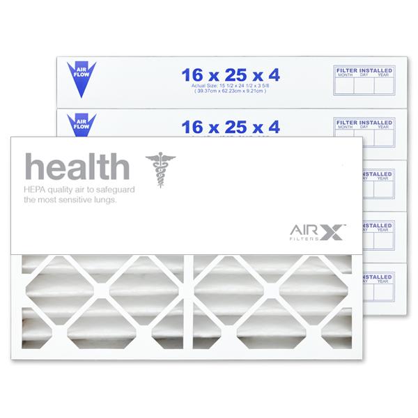 16x25x4 AIRx HEALTH Air Filter - MERV 13 2-Pack