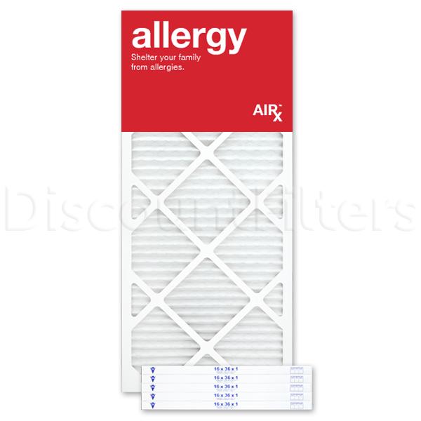 "16"" X 36"" X 1"" MERV 11 Pleated Filter- Allergy Reduction"