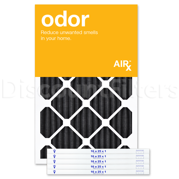 AiRx Odor 16x25x1 Carbon MERV 8 Pleated Filter