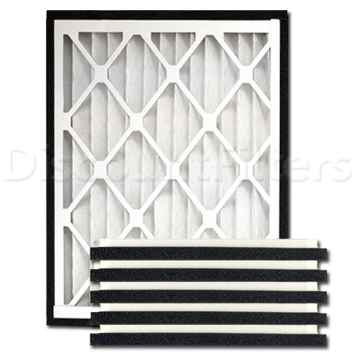 "Practical Pleat 10"" X 25"" X 2"" Return Grille Filter"