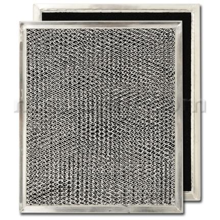 Aluminum/Carbon Range Hood Filter - 8 15/16