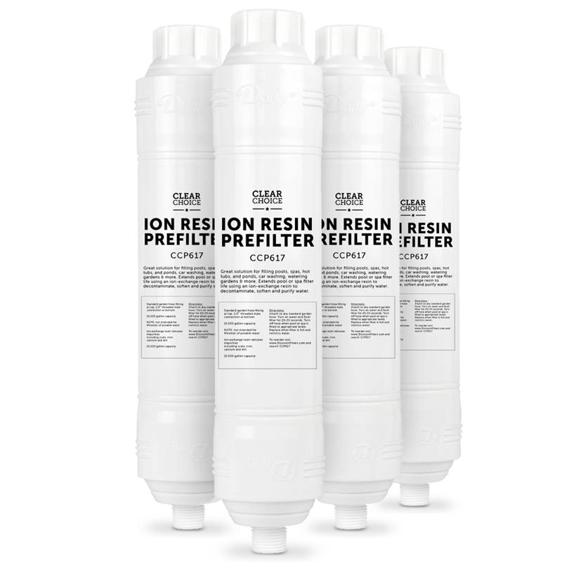 Water Softening spa-fill filter with Hose Attachment