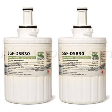 Swift Green Replacement for Samsung DA29-00003G Refrigerator Filter, 2-Pack