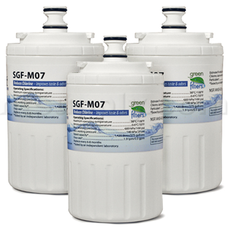Swift Green Replacement for Maytag UKF7003 Refrigerator Filter, 3-Pack