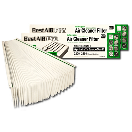 BestAirPro Replacement for Aprilaire # 201 Filter, 2-Pack