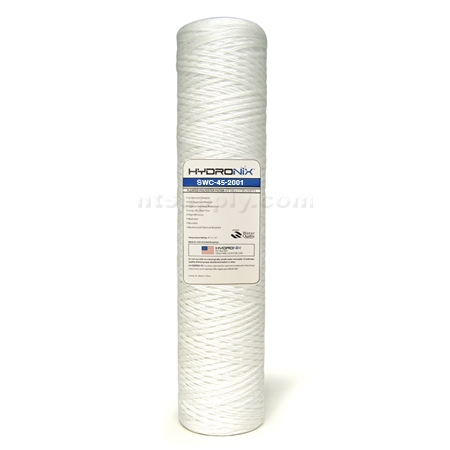 "Hydronix  20"" BIG BLUE  String Wound Sediment Cartridge 1 micron"