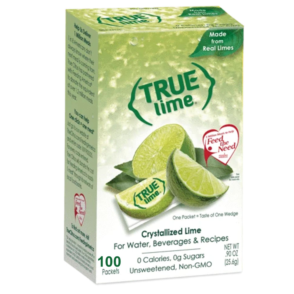 True Lime Water Flavoring Packet - Box of 100