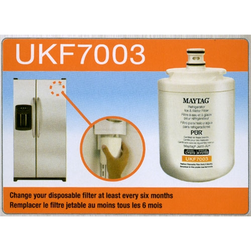 How to install the UKF7003 filter