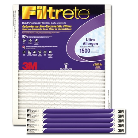 17 1/2 x 23 1/2 x 1 Filtrete Ultra Allergen Reduction Filter - #2029