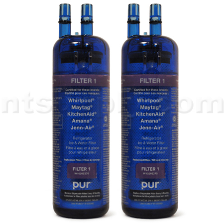 Whirlpool PUR Refrigerator and Ice Water Filter (W10295370), 2-Pack