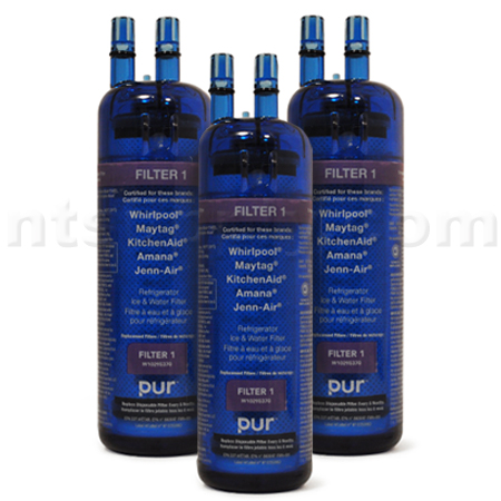 Whirlpool PUR Refrigerator and Ice Water Filter (W10295370), 3-Pack