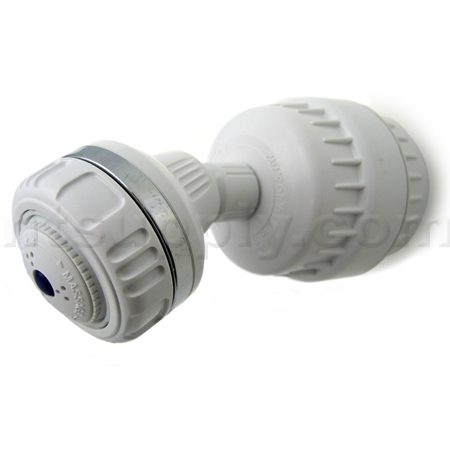 Sprite High Output Universal Shower Filter - With Head - White