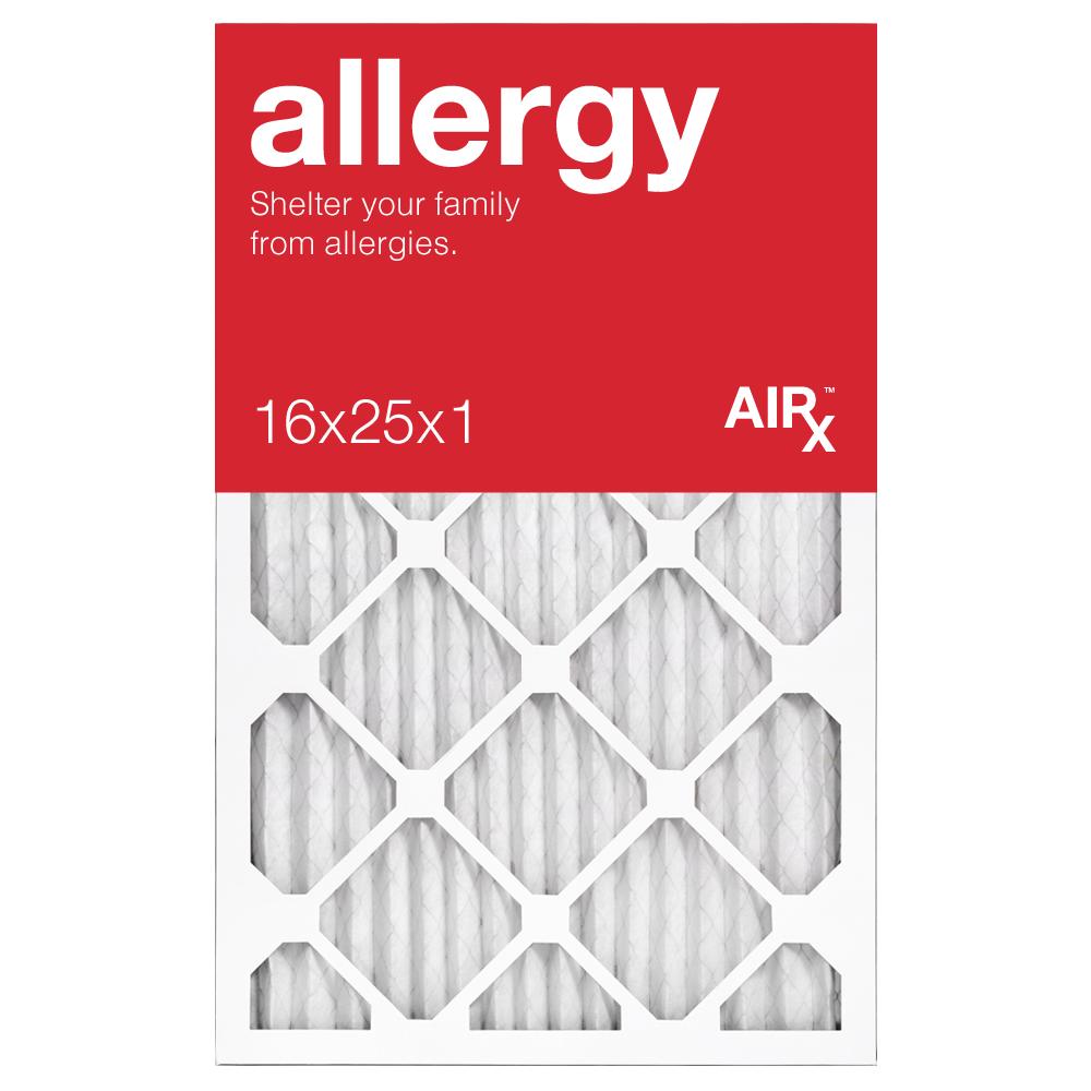 AiRx Allergy 16x25x1 MERV 11 Pleated Filter