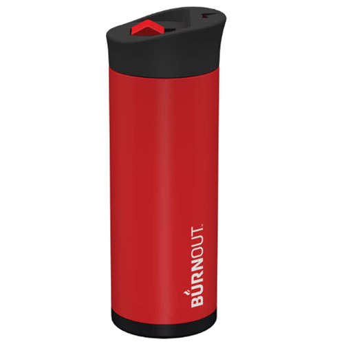 BURNOUT Temperature Regulating Travel Mug - Small Red
