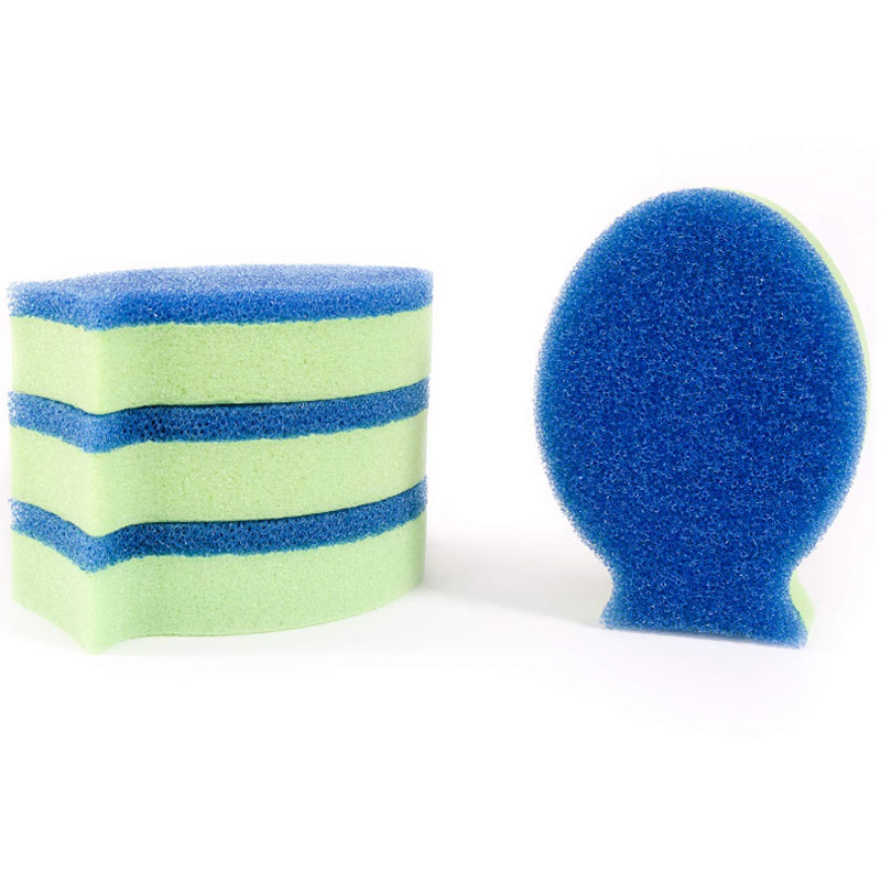 DishFish Dual - Antimicrobial Extreme Cleaning Sponge, 4-Pack