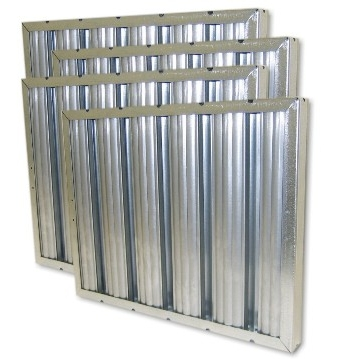 "25"" X 16"" X 1"" Galvanized Steel Grease Baffle Filter"